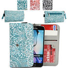 Ladie's Convertible Paisley Smartphone Wallet Cover & Wristlet Clutch ESMLP2-25
