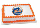 New York Mets MLB baseball NY image cake topper frosting sheet #4667 on Ebay