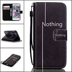 For Apple iPhone 6S Plus 5/5S 4S Fashion Wallet Stand Flip PU Leather Cover Case