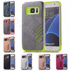New Double Colors 2 in 1 Plastic+Rubber Protection Cover Case For Various Phones