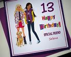 Personalised Hand made Birthday card / any age / name / Friends