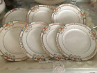 "Job lot 7 x vintage 1930's art deco hand-painted china 7"" SIDE PLATES"