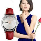 Women Lady #B Leather Dress Casual Flower Fashion Waterproof Quartz Analog Watch