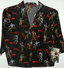 NWT sz 6 ROPE TRICK COWBOY PRINT BLOUSE by RISKIN & REEDS red or black size 6