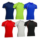 Mens Cycling/Gym Compression/Base Layer Thermal Vented Armpit Half SleevsTop