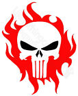 PRINTED T-SHIRT THE PUNISHER SKULL WITH RED FIRE - COMICS - MENS WOMENS KIDS