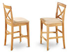 Set of 2 X-Back stool in Oak finish