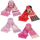 DISNEY Kinder Winter 3er Set Mütze Schal Handschuhe Minnie Pepper Pig Princess