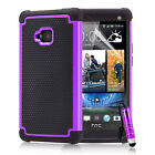 NEW Shock proof case cover for HTC one M8 + screen protector  stylus <br/> Also available for HTC one M7
