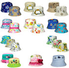 Childrens Bush Hat Boys Girls Various Designs Cotton Summer Sun Bucket Cap New