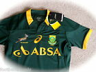 S M L XL XXL ASICS SOUTH AFRICA TEST SPRINGBOKS RUGBY SHIRT JERSEY 2015 New