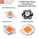 100w high power led - Full Spectrum 380-840nm 1w 3w 5w 10w 20w 30w 50w 100w High Power LED Chip Light