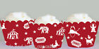 vintage circus red birthday party  Wraps Cupcake Cases Cake Wrappers Cup Cake