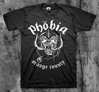 PHOBIA 'Orange County' T shirt (Wormrot Napalm Insect Warfare Magrudergrind)