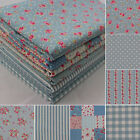 SB LOVELY FLOWER 100% Cotton Fabric Quilting Patchwork Shabby Chic