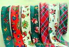 "CHRISTMAS BIAS BINDING X 4 METRES COTTON 25mm (1"") SANTA TEDDIES TARTAN"