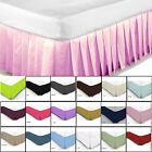 Plain Dyed Fitted Valance Polyester Cotton Bed Sheet Plat Base Cover Hotels Room