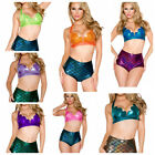 Mermaid Shell Halter Top Only in Multiple Colors CC400 Hologram Metallic