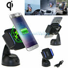 Qi Wireless Car Charger MountHolder for Samsung Galaxy S7/S7 /S6 Edge Note 5