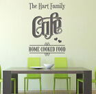 Personalised family name kitchen Cafe vinyl wall art sticker decal