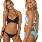 Sheridyn Swimwear Bikini Set Wrap Bralette Top Scrunch Ruching Tie Side Bottom
