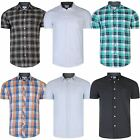Mens Cotton Short Sleeve Shirt ex Next Pinstripe Checked Print Top RRP £25 S-XXL