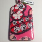 Vera Bradley LUGGAGE Tags Rosewood Pink Blush Laminated Gift Card NWT