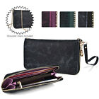 Convertible Croc Smartphone Wallet Case Wristlet & Gold Crossbody Chain ESXLZP25