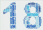 A5 PERSONALISED BIRTHDAY CARD - ANY AGE-ANY WORDS - 18th,21st,30th,40th,50th etc