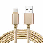3/6/10ft Braided Aluminum Micro USB Data Sync Charger Cable Cord For iOS Android