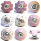 Large Selection Of Pink Ceramic Door Knobs Handle Cabinet Cupboard Drawer Pull