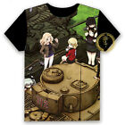 Anime GIRLS und PANZER Miho Unisex T-shirt HD Printing Cosplay Tee Tops#58-H60