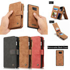 Multifunction Genuine Leather Wallet Case Cover For Samsung Galaxy S6 S7 edge