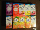 70 PACKETS  CRYSTAL LIGHT ON THE GO   MANY FLAVORS TO CHOOSE FROM