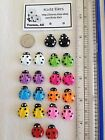 Flatback Resin Ladybug Stud Earrings - Free Shipping - Various Colors