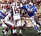 JT53 Earl Faison Chargers Rushes Babe Parilli 8x10 11x14 Colorized Photo $4.95 USD