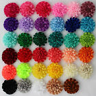 "2"" Rosette Fabric Flower Cabbage Rose Embellishment tutu dress hair applique"