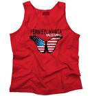 Pennsylvania State Americana Patriotic Butterfly Gift Idea Tank Top Shirt