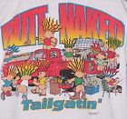 Vintage 1995 BUTT NAKED Troll Football TAILGATE T-Shirt WHITE NWT NEW Old Stock