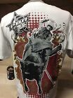 New Mens Oficial PBR Western Wear Cowboy Rodeo T-Shirt
