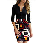 Sexy Fashion Women's 3/4 Sleeve Bodycon Pencil Dress Hips-Wrapped Party Midi New