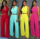 Sexy Womens Sleeveless Jumpsuit Romper Trousers Bandage Bodycon Evening Clubwear