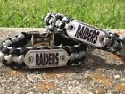 Oakland Raiders Paracord Bracelet w/ NFL Dog Tag and Metal Buckle. AWESOME!!! on eBay