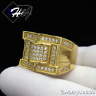 MEN's Gold Over Stainless Steel 2.22 Carat CZ Iced Out Bling Ring Size 7-12*GR30