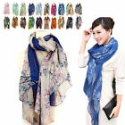 Women Long Soft Cotton Voile Silk Scarves Leopard Shawl Stole Wrap Scarf Gift