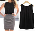 Hot sexy Women Ladys Casual Vest Tank Tops Sleeveless New Chiffon Summer Blouse