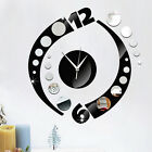 Modern DIY Wall Clock Analog 3D Mirror Surface Large Number Sticker Home Decor