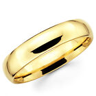 14K Solid Yellow Gold 5mm Comfort Fit Men's and Women's Wedding Band Ring