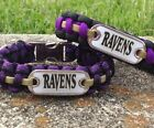 Baltimore Ravens Paracord Bracelet w/ NFL Dog Tag and Metal Buckle. AWESOME! on eBay