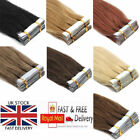 "16"" 18"" 20"" 22"" 24"" Seamless Tape in Skin Weft Remy Human Hair Extensions UK 7A"